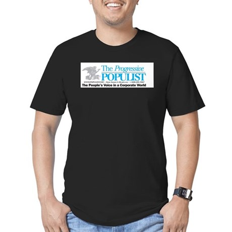 Progressive Populist Men's Fitted T-Shirt (dark)