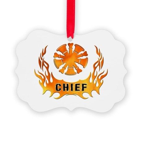 Fire Chiefs Flame Tattoo Picture Ornament