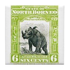 Unique North borneo Tile Coaster
