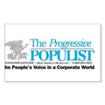 Progressive Populist Sticker (Rectangle 10 pk)