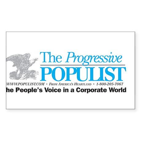Progressive Populist Sticker (Rectangle 10 pk)