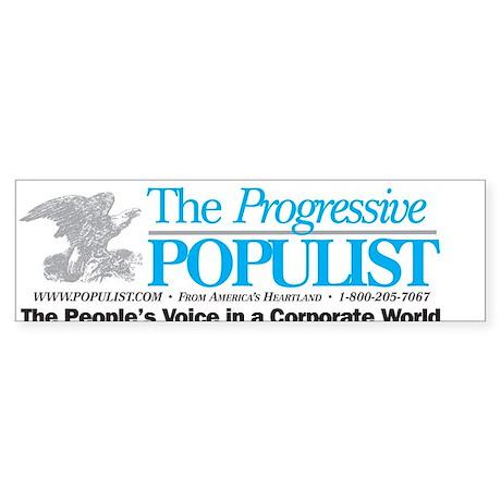 Progressive Populist Sticker (Bumper)