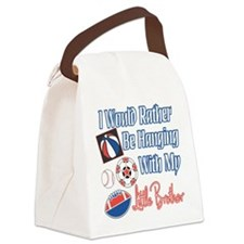 Hanging With Little Brother.png Canvas Lunch Bag