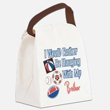 Hanging With Brother.png Canvas Lunch Bag