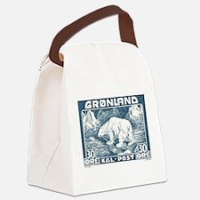 Cute Polar Canvas Lunch Bag