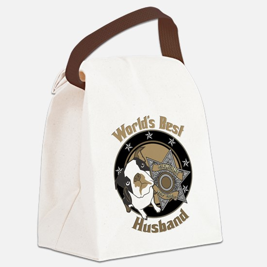 TopDogWorldsBestHusband copy.png Canvas Lunch Bag