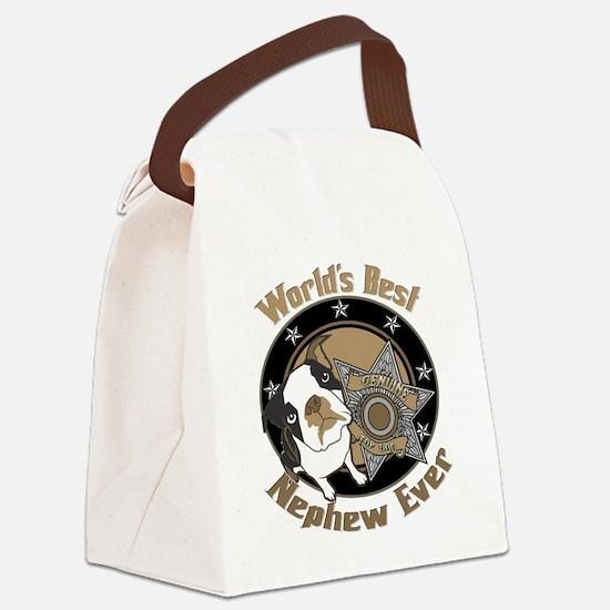 TopDogWorldsBestNephew copy.png Canvas Lunch Bag