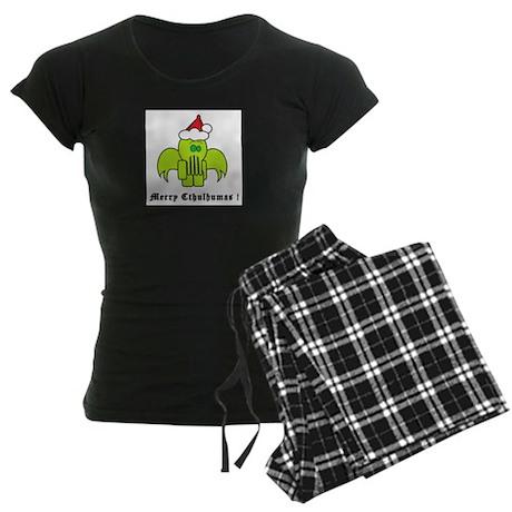 Merry Cthulhumas! Women's Dark Pajamas