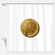 Atheist Gold Coin Shower Curtain