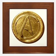 Atheist Gold Coin Framed Tile