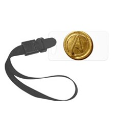 Atheist Gold Coin Luggage Tag