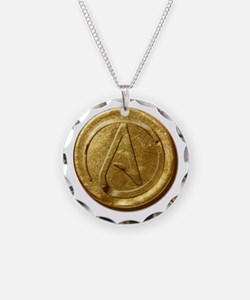 Atheist Gold Coin Necklace