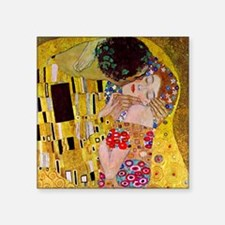 """Gustav Klimt The Kiss Square Sticker 3"""" x 3"""""""
