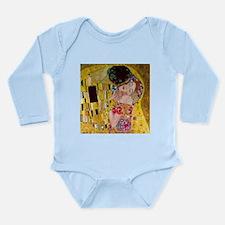 Gustav Klimt The Kiss Long Sleeve Infant Bodysuit