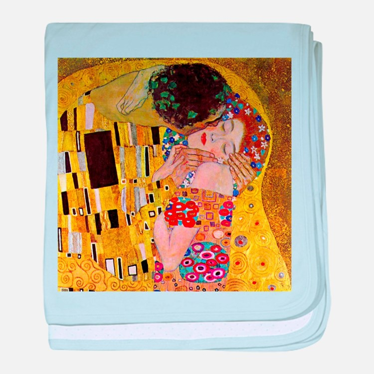 Gustav Klimt The Kiss baby blanket