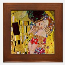 Gustav Klimt The Kiss Framed Tile