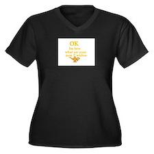 genie Women's Plus Size V-Neck Dark T-Shirt