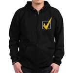 Check Mark Zip Hoodie (dark)