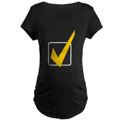 Check Mark Maternity Dark T-Shirt
