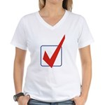 Check Mark Women's V-Neck T-Shirt