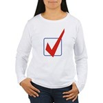Check Mark Women's Long Sleeve T-Shirt