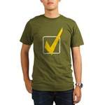 Check Mark Organic Men's T-Shirt (dark)
