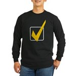 Check Mark Long Sleeve Dark T-Shirt