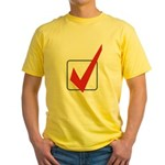 Check Mark Yellow T-Shirt