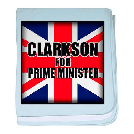 Clarkson for Prime Minister baby blanket