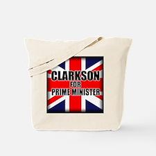 Clarkson for Prime Minister Tote Bag