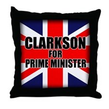 Clarkson for Prime Minister Throw Pillow