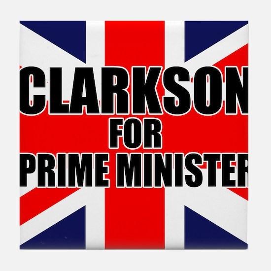 Clarkson for Prime Minister Tile Coaster