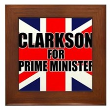 Clarkson for Prime Minister Framed Tile