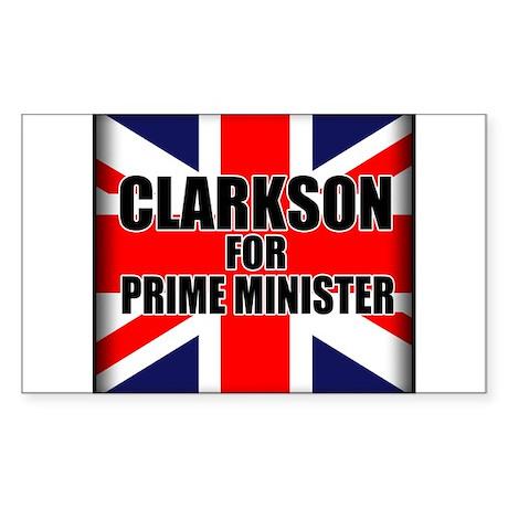 Clarkson for Prime Minister Sticker (Rectangle)
