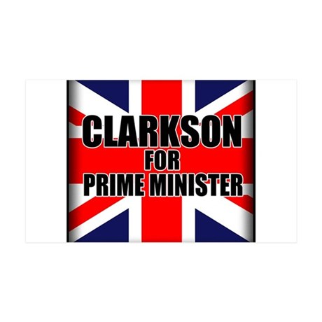 Clarkson for Prime Minister 35x21 Wall Decal