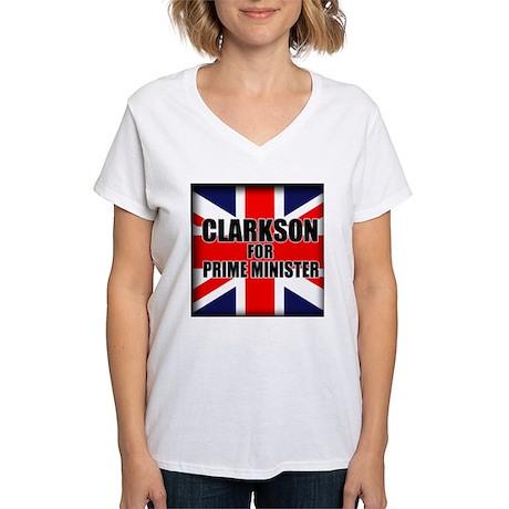 Clarkson for Prime Minister Women's V-Neck T-Shirt
