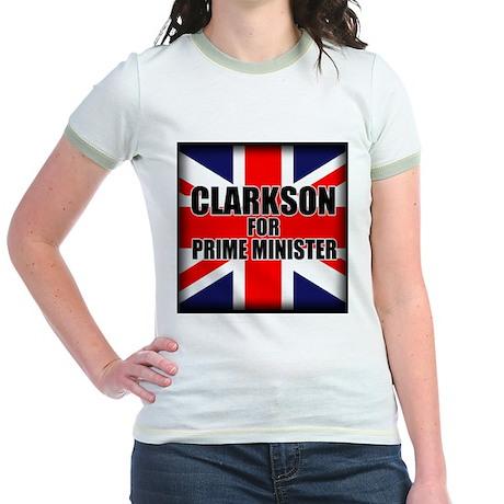 Clarkson for Prime Minister Jr. Ringer T-Shirt