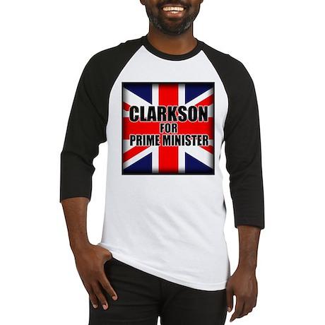 Clarkson for Prime Minister Baseball Jersey