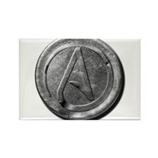 Atheist Silver Coin Rectangle Magnet