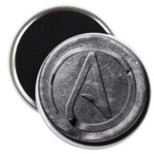 """Atheist Silver Coin 2.25"""" Magnet (100 pack)"""