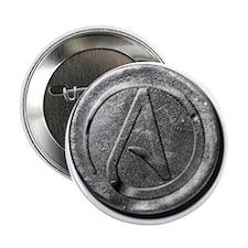 """Atheist Silver Coin 2.25"""" Button"""