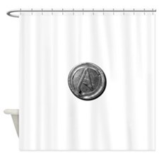 Atheist Silver Coin Shower Curtain