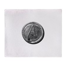 Atheist Silver Coin Throw Blanket