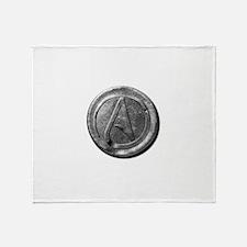 Atheist Silver Coin Throw Blanket
