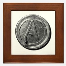 Atheist Silver Coin Framed Tile