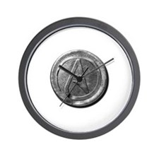 Atheist Silver Coin Wall Clock