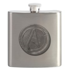 Atheist Silver Coin Flask