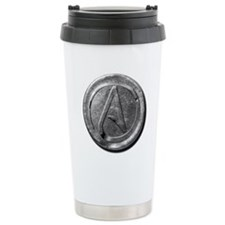 Atheist Silver Coin Travel Mug