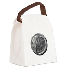Atheist Silver Coin Canvas Lunch Bag