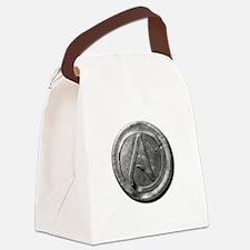 Atheist Silver Coin Canvas Lunch Bag